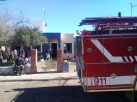 Incendio en una vivienda dejó a una familia sin nada