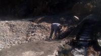 Villa de Merlo: Se realizó la limpieza y reparación de la toma de agua del arroyo El Molino