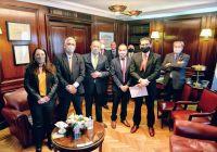 Adolfo Rodríguez Saá recibió los saludos protocolares por la presidencia de la Comisión de Relaciones Exteriores y Culto