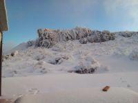 Villa de Merlo amaneció con sus sierras nevadas