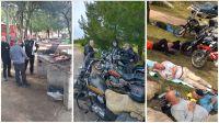 Tres abuelos merlinos motociclistas salen todos los sábados a rutear