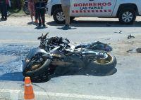 Traslasierra: Un joven motociclista murió en un choque contra una camioneta
