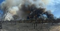 El incendio está contenido, más de 250 combatientes en el lugar