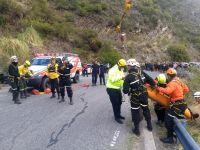 Motociclista cayó al precipicio antes  de llegar al filo serrano
