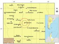 Hubo un leve sismo en cercanía de Sampacho