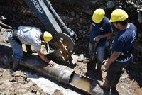 San Luis Agua realizó una reparación en el Acueducto de la Planta de Bombeo de Merlo