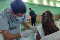 Continuó este lunes la campaña de vacunación en las escuelas de Merlo