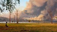 Incendios en Córdoba: el aterrador foco en la costanera de Carlos Paz