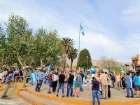 Vecinos de Villa de Merlo se unieron a la marcha del #120
