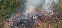 Vecinos denunciaron una quema en el barrio Los Nogales
