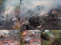 La Secretaría de Ambiente labró actas por la quema en Los Nogales