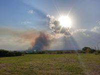 Sigue activo el incendio en Cerro de Oro