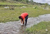 El Gobierno provincial realiza un monitoreo ambiental del río Conlara