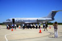 Llegó el primer vuelo de LADE al Aeropuerto Internacional Valle del Conlara