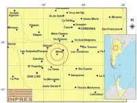 Tembló en el noreste de la provincia y se sintió en Santa Rosa del Conlara