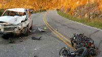 Murió un motociclista al chocar un auto camino a las Altas Cumbres