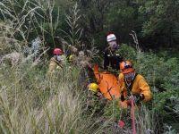 Camino al filo: Rescataron a un motociclista que cayó al precipicio