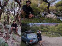 Un aventurero de viaje por la Argentina llegó a la Villa de Merlo