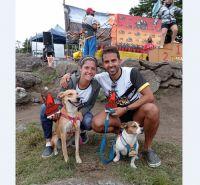 Dos merlinos participaron junto a sus perros de un Canicross en Córdoba
