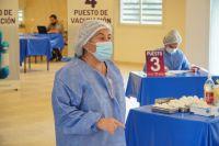El hospital de Villa de Merlo ya vacunó a 7207 personas