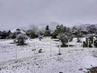 Espectacular nevada en Villa de Merlo y la zona