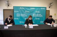 El Ministerio de Producción y San Luis Agua firmaron un convenio de trabajo con la Universidad Nacional de los Comechingones