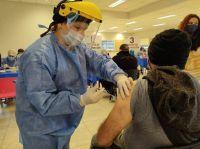 Villa de Merlo: 660 personas recibieron este sábado la primera dosis de la vacuna AstraZeneca