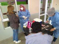 Sosa Araujo acompañó la vacunación de 208 personas en el hospital de Santa Rosa del Conlara